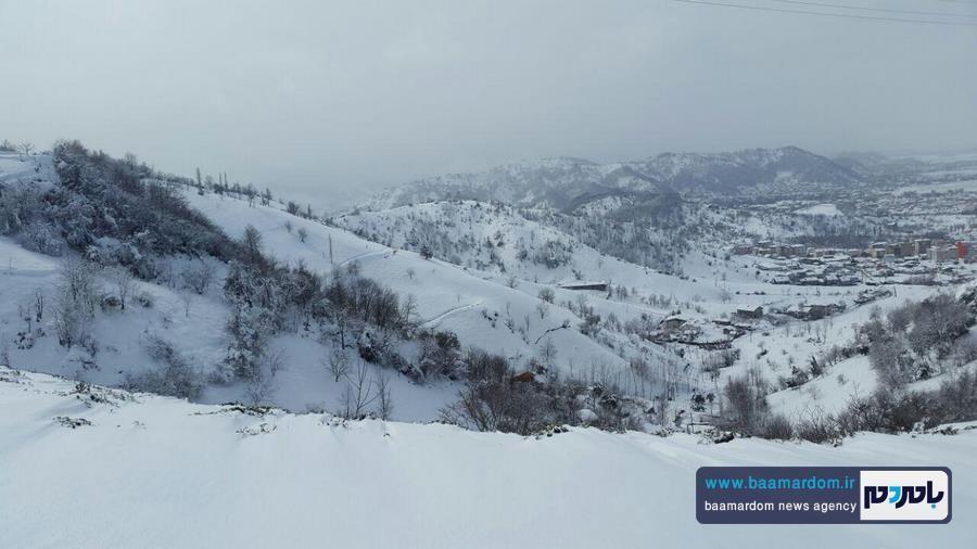 لاهیجان پس از بارش برف اخیر | گزارش تصویری