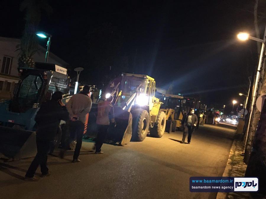 مانور ستاد بحران شهرداري لاهيجان با همراهي كميته آفرود