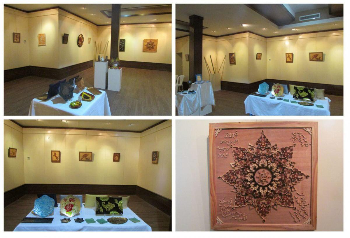 برپایی نمایشگاه معرق و ظروف دکوراتیو در لاهیجان