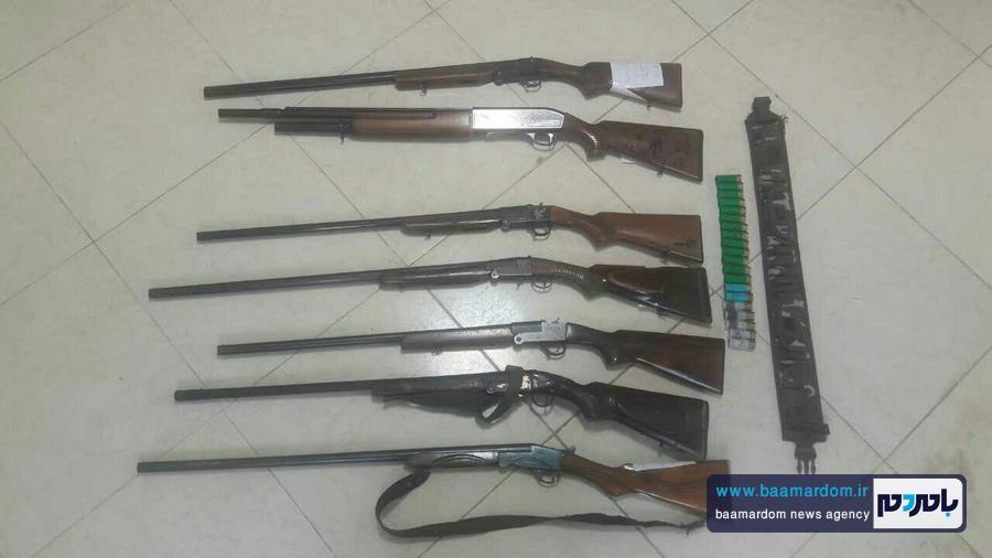 کشف ۱۹ قبضه سلاح شکاری در هفته گذشته در گیلان + تصاویر