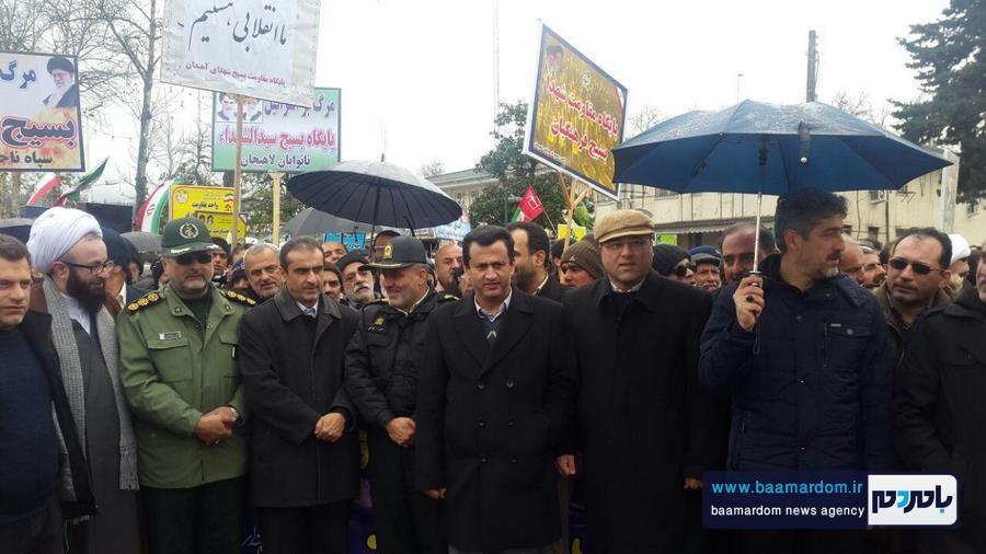 22 بهمن لاهیجان 1 - راهپیمایی 22 بهمن در لاهیجان برگزار شد   گزارش تصویری اول