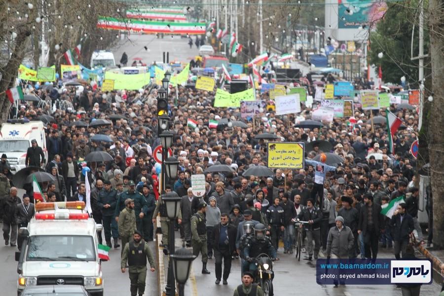 راهپیمایی ۲۲ بهمن در لاهیجان برگزار شد | گزارش تصویری اول