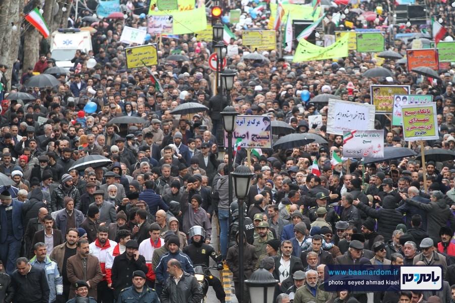 22 بهمن لاهیجان 21 - راهپیمایی 22 بهمن در لاهیجان برگزار شد   گزارش تصویری اول