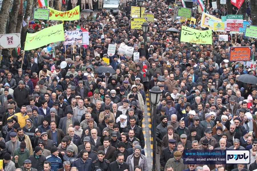 22 بهمن لاهیجان 24 - راهپیمایی 22 بهمن در لاهیجان برگزار شد   گزارش تصویری اول
