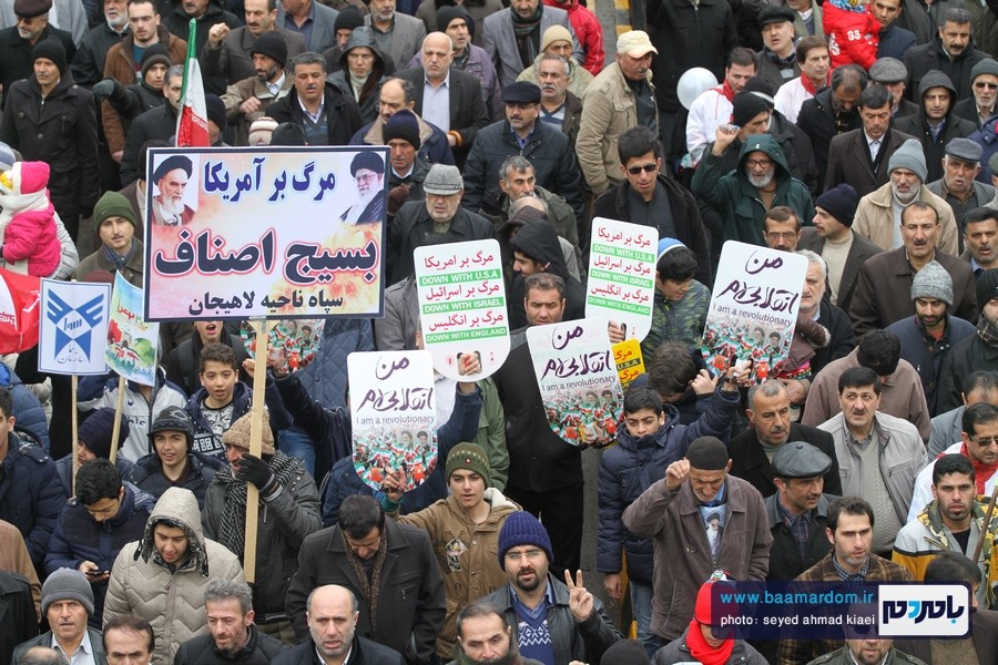 22 بهمن لاهیجان 28 - راهپیمایی 22 بهمن در لاهیجان برگزار شد   گزارش تصویری اول