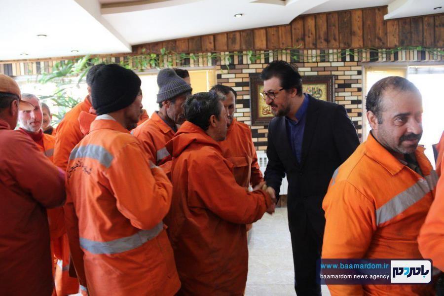 تشکر کارگران شهرداری از شهردار لاهیجان + تصاویر