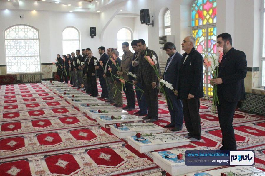 حرم مطهر شهدای آستانه اشرفیه گل افشانی شد + گزارش تصوریری