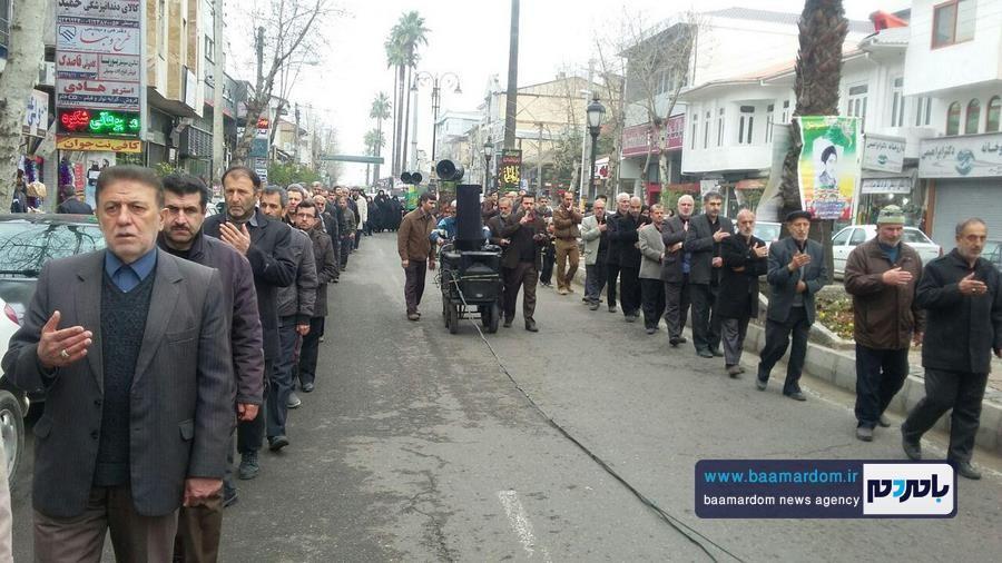 دسته عزاداری مسجد چهارده معصوم (ع) لنگرود برگزار شد + گزارش تصویری