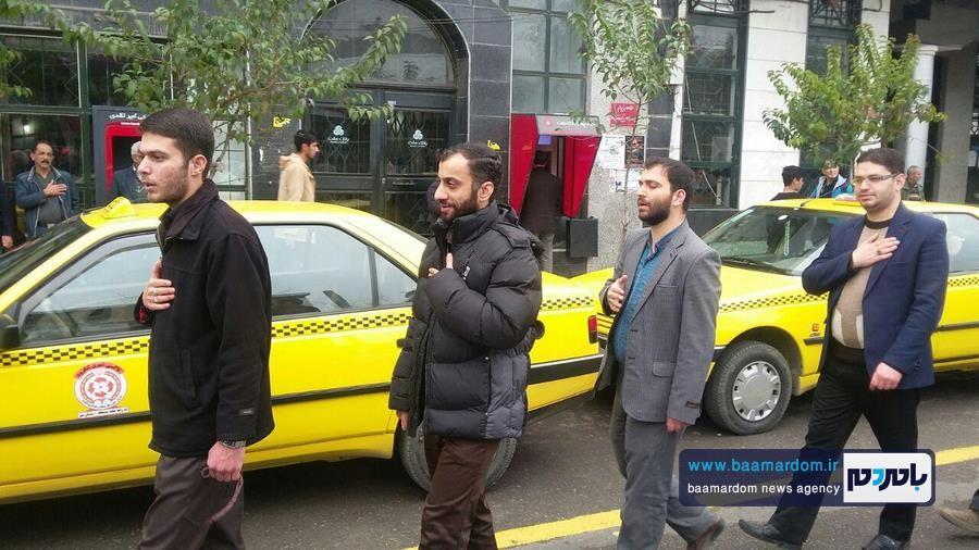 دسته عزاداری مسجد چهارده معصوم ع لنگرود 9 - دسته عزاداری مسجد چهارده معصوم (ع) لنگرود برگزار شد + گزارش تصویری