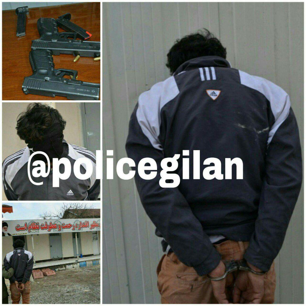 دستگيري سارق مسلح بانك بلافاصله بعد از سرقت در لاهيجان