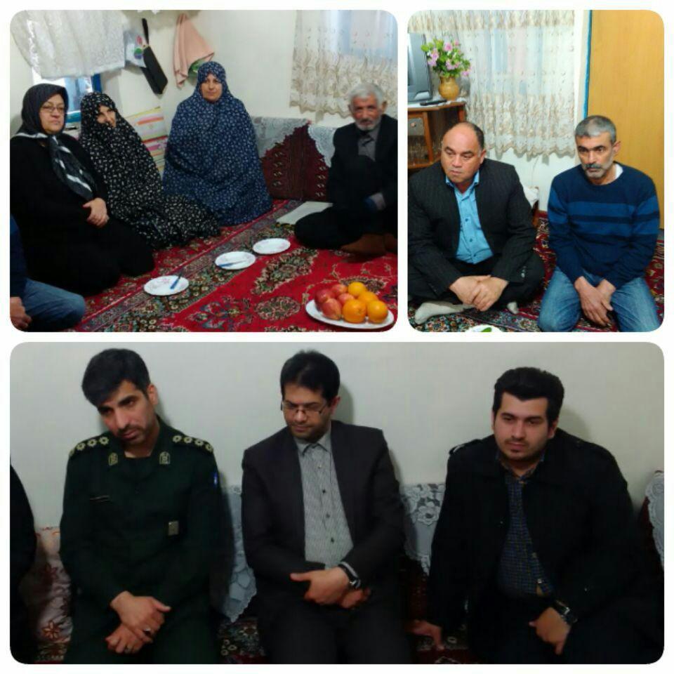 دیدار های نوروزی بخشدار کیاشهر با خانواده معظم شهدا