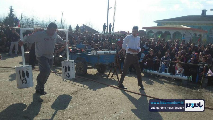 مسابقات قویترین مردان شهرستان لنگرود 1 - مسابقات قویترین مردان شهرستان لنگرود در روستای دریاکنار برگزار شد + گزارش تصویری