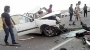 مرگ عاقبت کورس با خودرو در منطقه آزاد انزلی | راننده ۲۳ ساله پژو پارس در دم جان باخت
