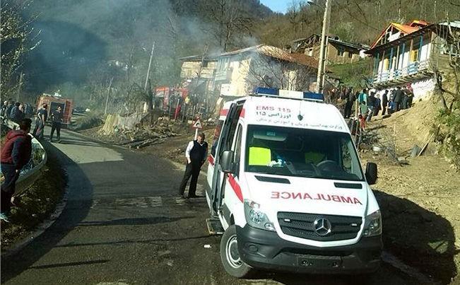 پسر ۴ ساله کشته شد و مادر و دو فرزند دیگرش به شدت سوختند+عکس