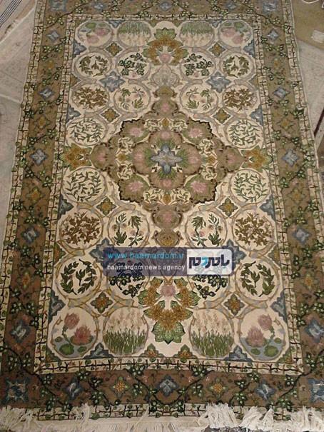 رونمایی از اولین فرش با طرح گیلانی در لاهیجان