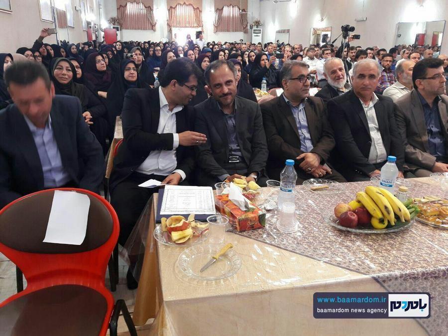 گرامیداشت مقام معلم در کیاشهر 3 - دولت یازدهم توجهش به فرهنگیان بیشتر از دولت های گذشته بوده است
