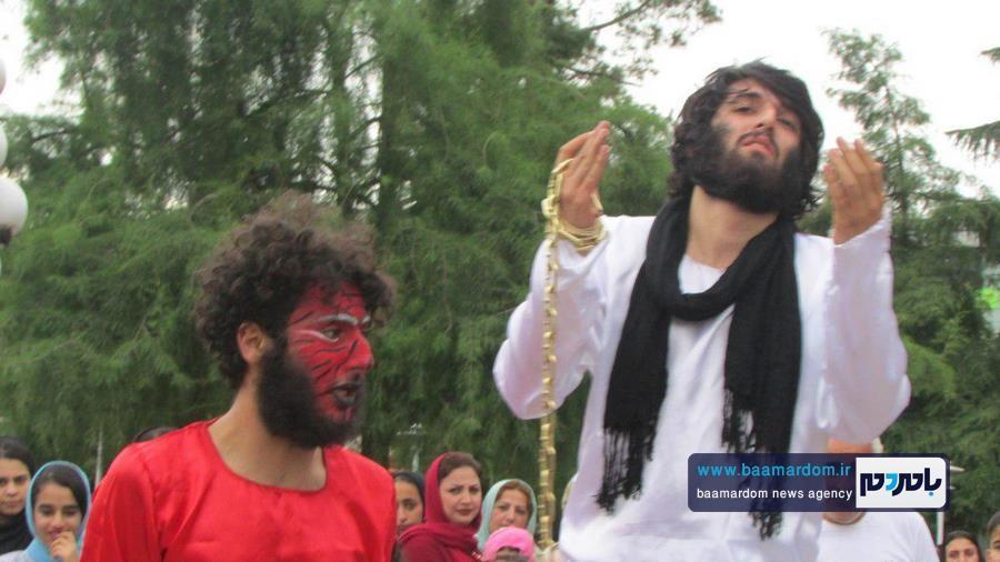 اجرای نمایش خیابانی زنجیر در لاهیجان + تصاویر
