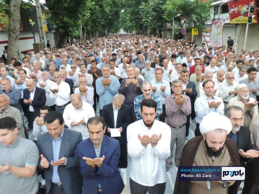 گزارش تصویری اقامه نماز عید فطر در لاهیجان