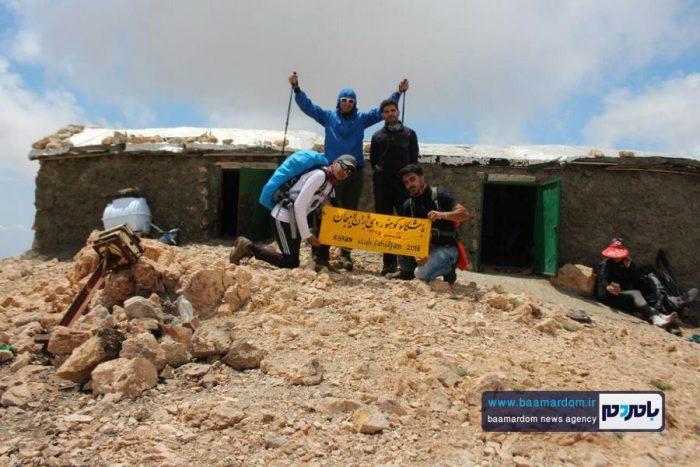 صعود اعضای باشگاه باران لاهیجان به بلندترین قله گیلان + تصاویر دیدنی
