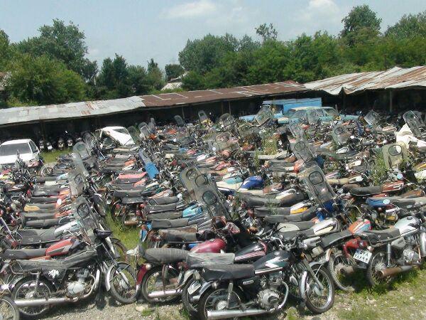 توقيف هزار و ۴۰۰ موتورسيكلت متخلف در لاهيجان