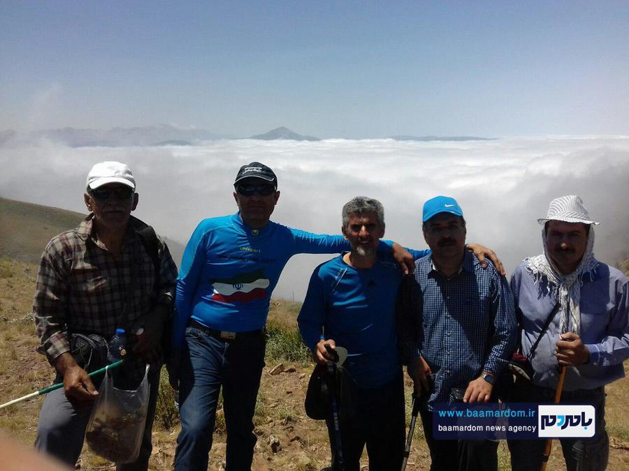 صعود کوهنوردان لنگرود به قله ۳۱۳۰ متری چلچلی علی آباد کتول + تصاویر