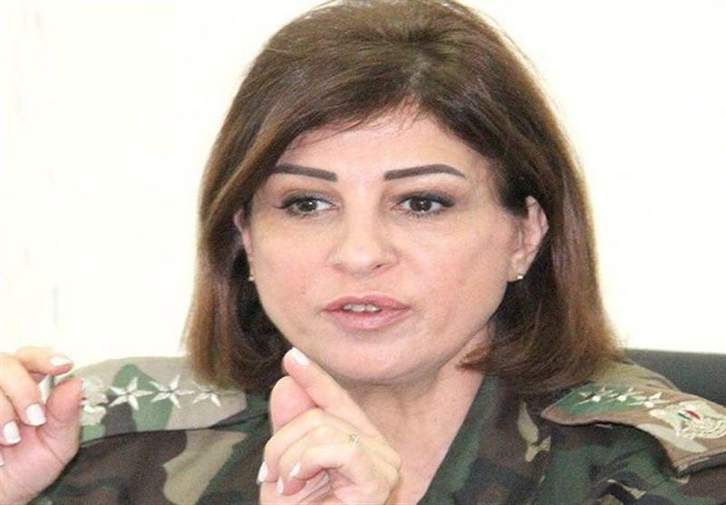 اولین زن سوری درجه سرلشگری گرفت + عکس