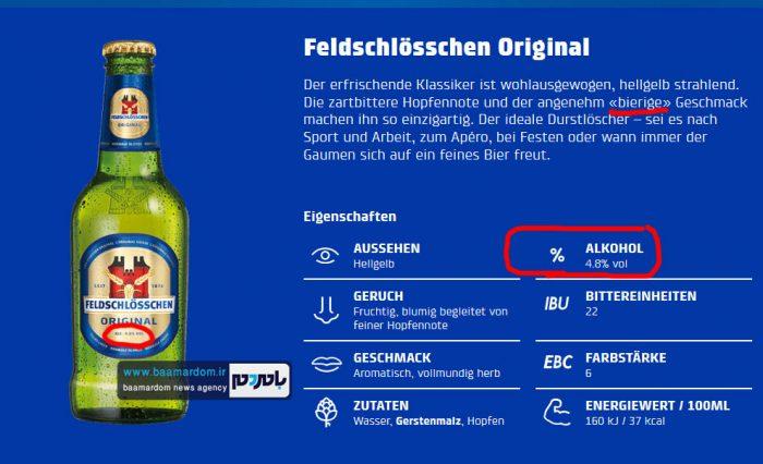 نوشیدنی الکلی آزاده نامداری 2 - بررسی ادعای یک سایت اصولگرا مبنی بر بدون الکل بودن نوشیدنی آزاده نامداری!