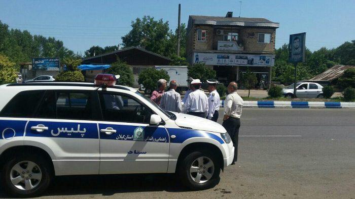 بازدید میدانی رییس پلیس راهنمایی و رانندگی استان گیلان از خیابان های شهر شلمان + تصاویر