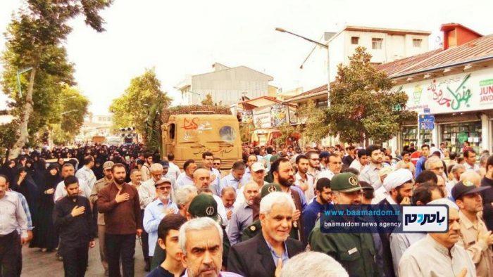 مراسم تشییع دو شهید گمنام در رشت | گزارش تصویری