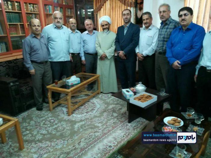 دیدار رئیس و پرسنل اداره گاز شهرستان لاهیجان با امام جمعه این شهرستان + تصاویر