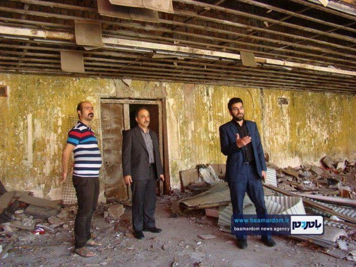 پیگیری شورای شهر لاهیجان در خصوص رفع خطر ساختمانهای خطر آفرین   گزارش تصویری