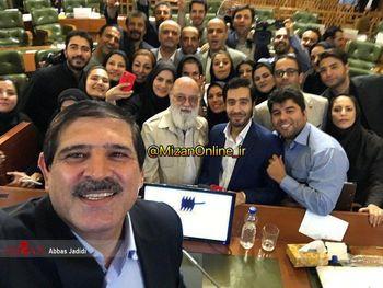 آخرین سلفی عباس جدیدی در آخرین جلسه شورای شهر!