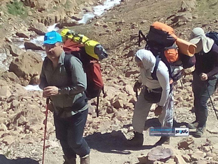 صعود کوهنوردان شهرستان لنگرود به قله علم کوه کلاردشت