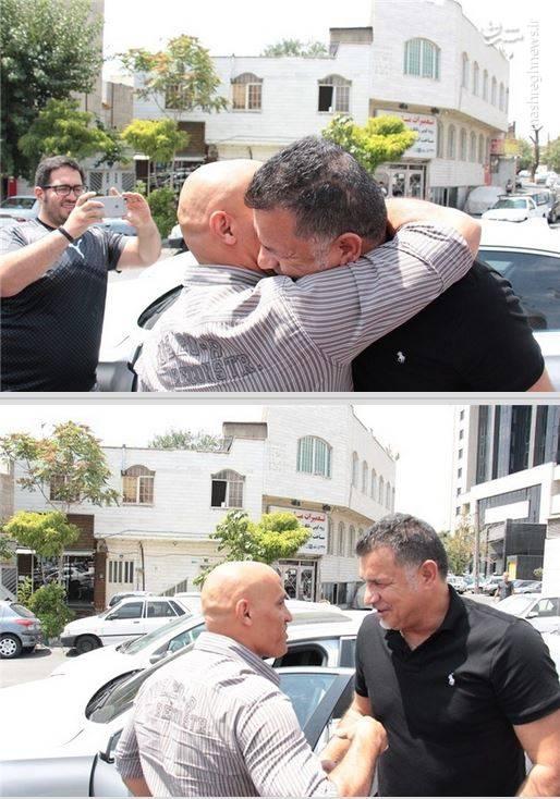 وقتی علی دایی و علیرضا منصوریان در خیابان به هم بر می خورند! + عکس