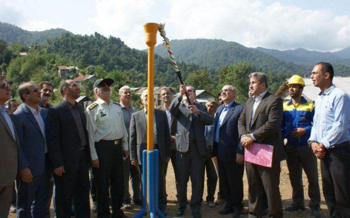 افتتاح طرح گازرسانی به سه روستا لنگرود | ۹۳ درصد مردم لنگرود از گاز بهره مند شدند