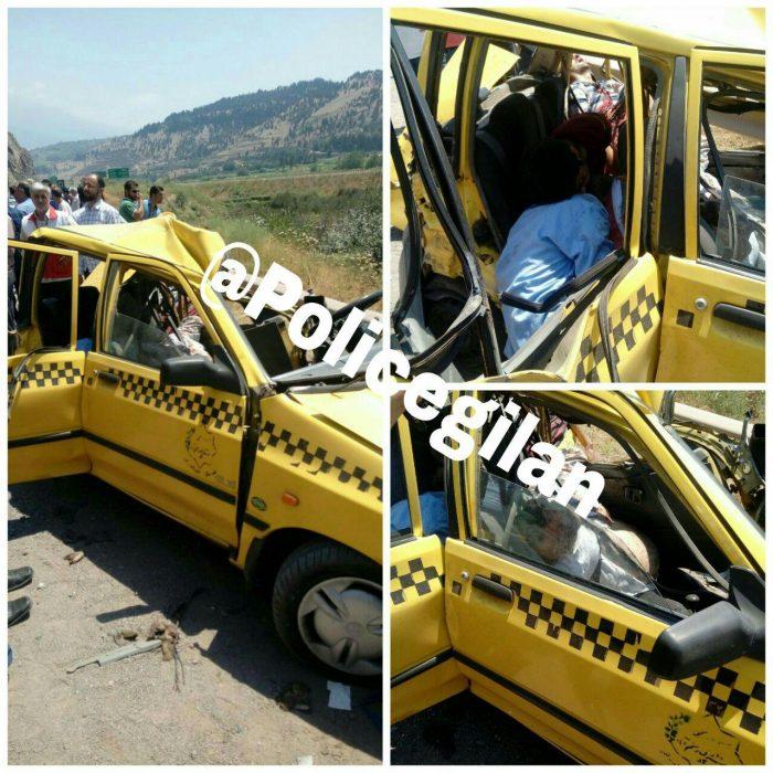 ۶ کشته و مجروح در تجاوز به چپ کامیون کشنده در محور رستم آباد