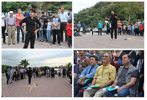 ٢٤ اجرای نمایش خیابانی در سومین روز هشتمین جشنواره تئاتر خیابانی شهروند لاهیجان