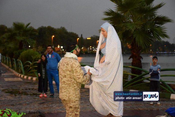 اجرای نمایش کربلای آب در سطح شهرستان لاهیجان + تصاویر