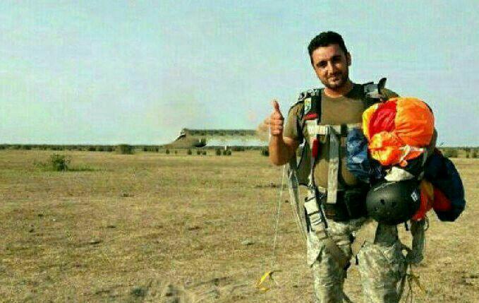 سقوط مامور چترباز نوپو از ارتفاع ۲۰۰۰ متری در کیاشهر   چتر باز نشد