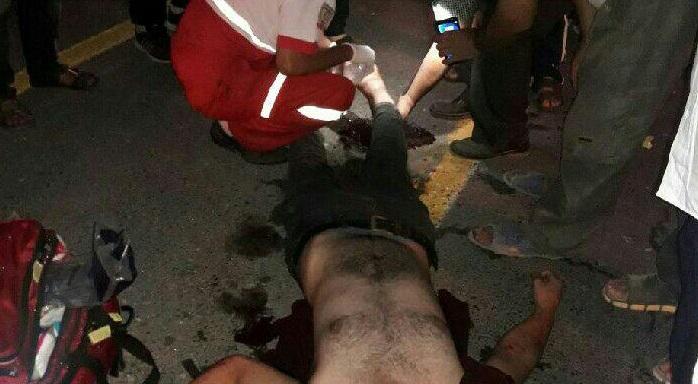 تصادف شدید پیکان وانت با موتور سیکلت در محور آستانهاشرفیه به کیاشهر