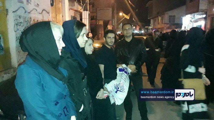 توزیع کیسه زباله در محل برگزاری مراسم چهل منبر لاهیجان + تصاویر