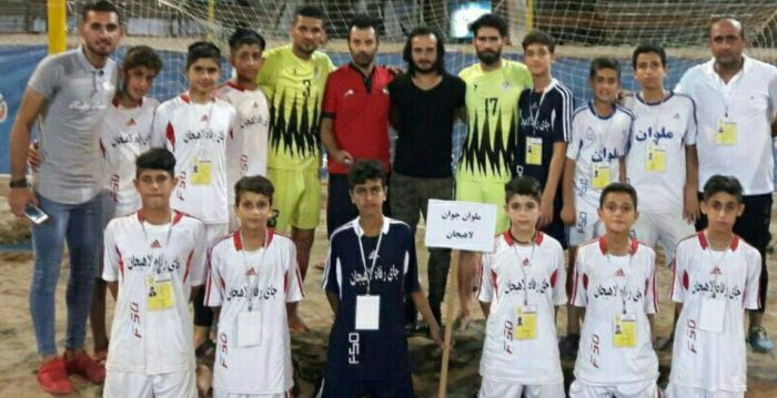 تیم ملوان جوان لاهیجان در سومین فستیوال فوتبال ساحلی کشور سوم شد + عکس