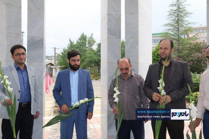 حضور تعاونگران بر سر مزار شهدای گمنام دانشگاه آزاد لاهیجان 1 - ما هر چه داریم از برکت خون شهداست