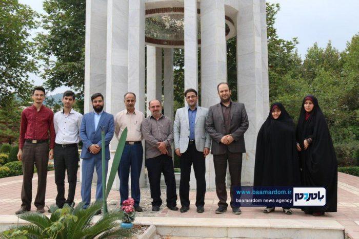 حضور تعاونگران بر سر مزار شهدای گمنام دانشگاه آزاد لاهیجان 4 - ما هر چه داریم از برکت خون شهداست