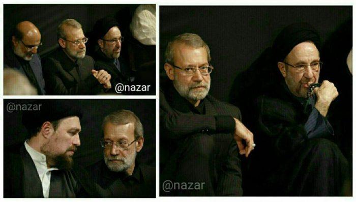 سیدمحمدخاتمی و علی لاریجانی در کنار یکدیگر + عکس و جزئیات