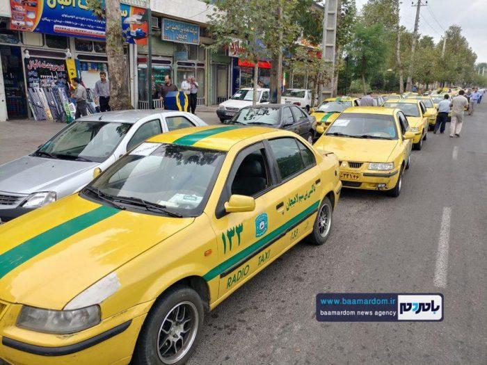 رژه تعاونی تاکسیرانی شهرستان لاهیجان برگزار شد + تصاویر