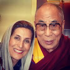 عکس بحث برانگیز فاطمه معتمدآریا در کنار رهبر بودایی ها !