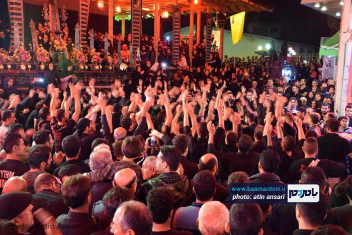مراسم عزاداری در هشتمین شب ماه محرم در لاهیجان + تصاویر