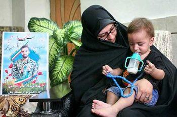 اولین واکنش همسر شهید حججی به خبر بازگشت پیکر شهید به ایران + عکس