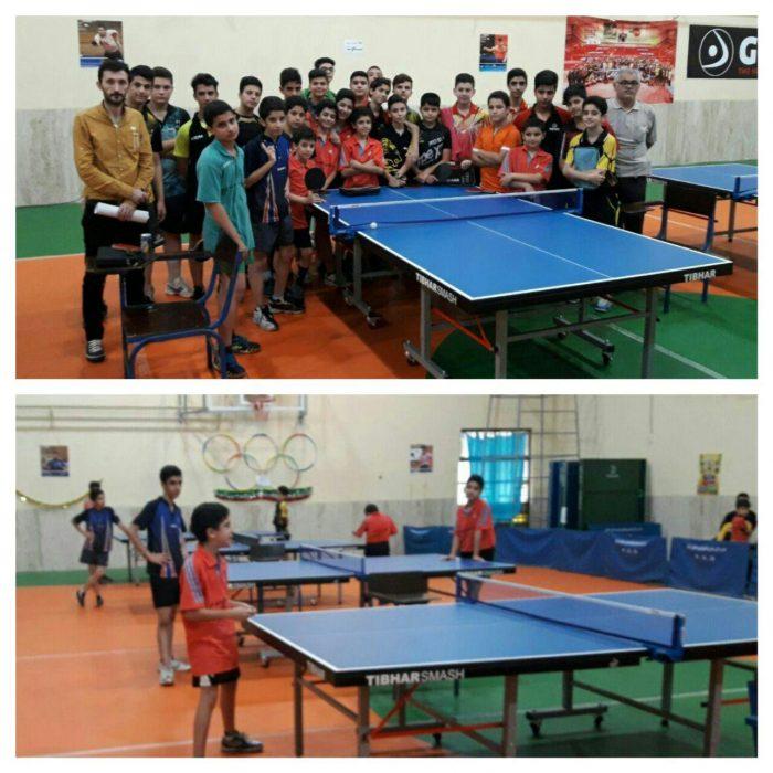 کسب مقام سوم و چهارم لاهیجانیها در مسابقات انتخابی تنیس روی میز نوجوانان گیلان